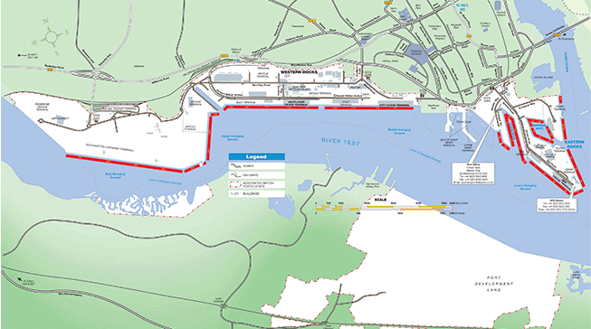 Map of Southampton Docks